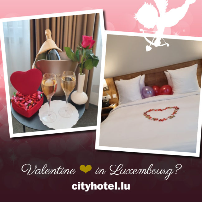Valentine in Luxembourg. City Hotel Visual.