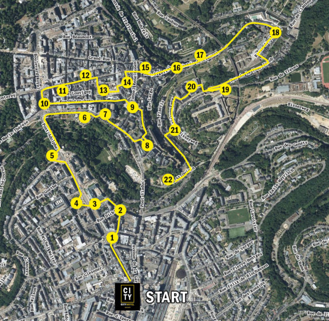 Map our our Luxembourg City Tour